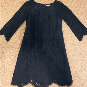 Lilly Pulitzer 3/4 Sleeve Navy Lace Dress